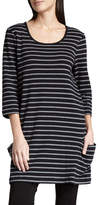 Joan Vass Striped Knit Tunic, Petite