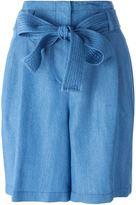 3.1 Phillip Lim tie waist chambray shorts - women - Lyocell - 4