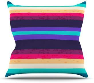 Nika East Urban Home Surf Stripes by Martinez Outdoor Throw Pillow East Urban Home