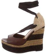 Fendi Espadrille Wedge Sandals