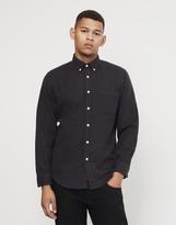 Portuguese Flannel Manta Gingham Check Button Down Shirt Blue
