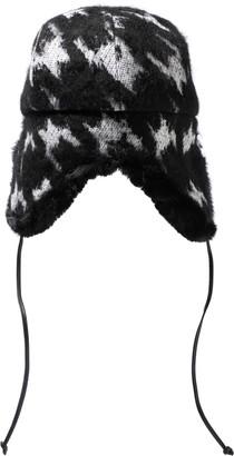 Eugenia Kim Sammy Houndstooth Knitted Trapper Hat