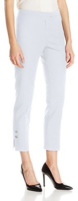 Nanette Lepore Women's Ankle Skinny Pant with Side Button Detail