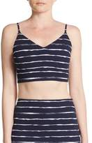 Saks Fifth Avenue RED Striped Bralette Top
