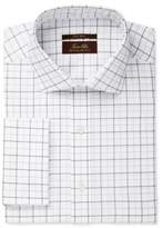 Tasso Elba Men's Classic Fit Non-Iron Windowpane French Cuff Dress Shirt, Created for Macy's