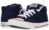 Converse Chuck Taylor(r) All Star(r) Street Varsity (Little Kid/Big Kid) (Obsidian/White/Team Red) Boy's Shoes