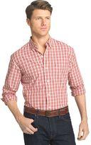 Izod Men's Advantage Regular-Fit Check Woven Button-Down Shirt