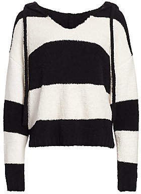 ATM Anthony Thomas Melillo Women's Chenille Bold Stripe Hoodie