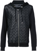 Philipp Plein leather skull hoodie