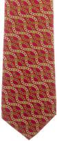 Gucci Chain-Link Print Silk Tie