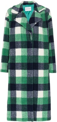 Stand Studio Maria faux fur checked coat