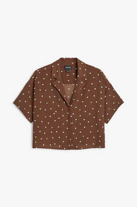 Monki Short-sleeved crepe blouse