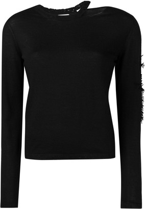 Barrie Cut-Out Neck Jumper