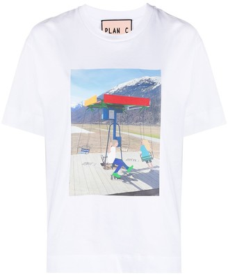 Plan C graphic print T-shirt