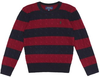 Polo Ralph Lauren Kids Striped wool and cashmere sweater