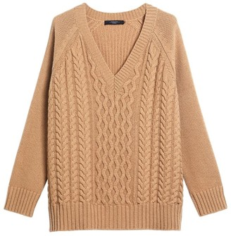 Max Mara Cable-Knit Wool Sweater
