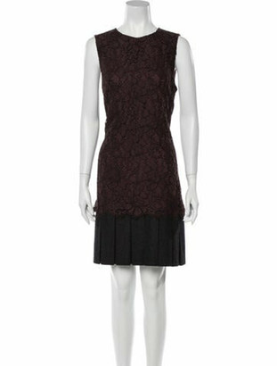 Dolce & Gabbana Lace Pattern Knee-Length Dress Brown