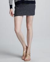 Milly Stella Printed Stretch Miniskirt