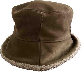 Fendi Green Leather Hats & pull on hats