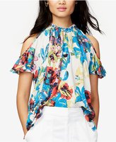 Rachel Roy Vanessa Floral-Print Cold-Shoulder Top, Only at Macy's