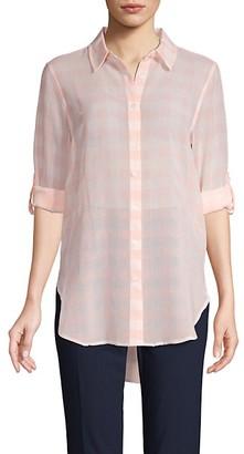 Calvin Klein Gingham Button-Front Shirt