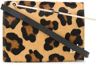 L'Autre Chose Leopard Print Pony Hair Tote
