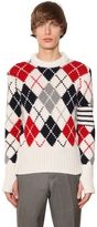 Thom Browne Intarsia Cashmere Sweater W/ Stripes