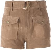 Frame patch pockets mid-rise shorts