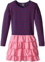 Toobydoo Sasha Ruffle Pink Dress (Toddler/Little Kids/Big Kids)