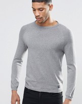 Pull&Bear Crew Neck Sweater In Gray