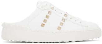 Valentino White Garavani Rockstud Untitled Backless Sneakers