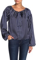 Line & Dot Elsie Polka Dot Print Front Tie Blouse