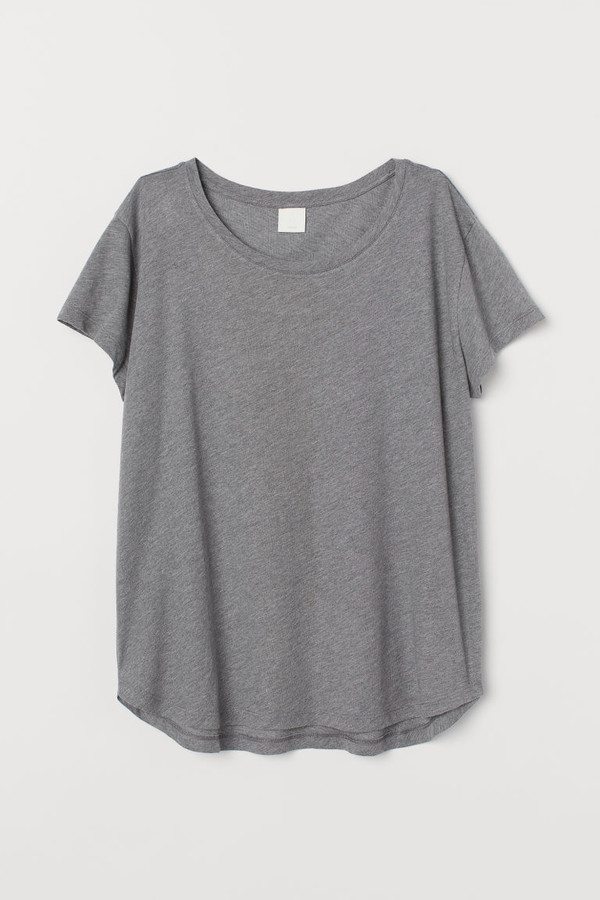 Cotton T-shirt - Gray