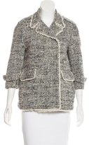 Gryphon Tweed Frayed-Trimmed Coat