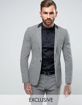 Religion Super Skinny Suit Jacket in Gingham