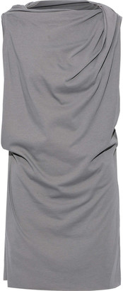 Rick Owens Toga Draped Cotton-jersey Tunic