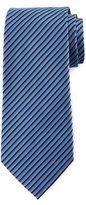 Armani Collezioni Tricolor Diagonal-Stripe Tie, Blue