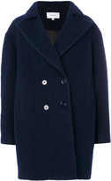 Carven oversized double-breasted coat - women - Polyester/Acetate/Viscose/Wool - 36