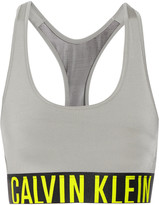 Calvin Klein Underwear Tulle-paneled stretch-satin bra