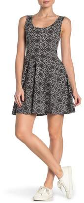 Papillon Medallion Print Scoop Neck Dress