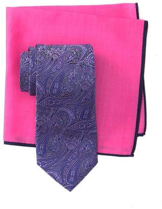 Ted Baker Silk Paisley Tie & Pocket Square Set