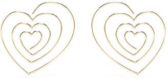 Y/Project Heart-Shape Hoop Earrings