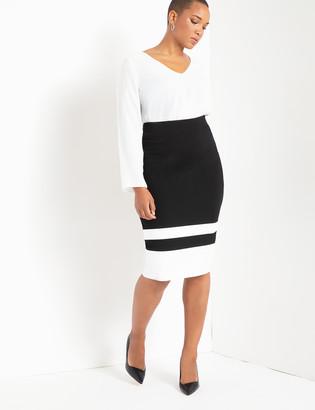 Colorblock Column Skirt