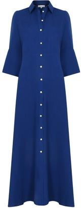 Libelula Maxi Lucinda Dress Blue Linen