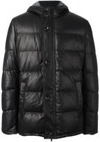Baldinini zip up padded coat - men - Feather Down/Lamb Skin/Polyester/Viscose - 54