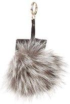 Adrienne Landau Fox Fur Pom-Pom Keychain w/ Tags