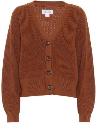 Velvet Riley wool-blend cardigan