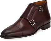 Magnanni Double-Monk Calf Leather Ankle Boots