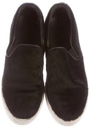 Celine Ponyhair Platform Slip-On Sneakers