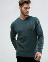 Jack Wills Marlow Cable Crew Sweater Merino Knit